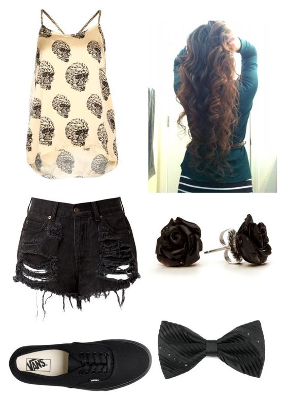 """Punk Chick"" by outfits-onedirection ❤ liked on Polyvore featuring Forever Unique, Vans, women's clothing, women, female, woman, misses and juniors"