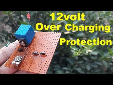 12volt Battery Overcharge Protection Circuit Diagram Youtube Circuit Diagram Charge Battery Protection