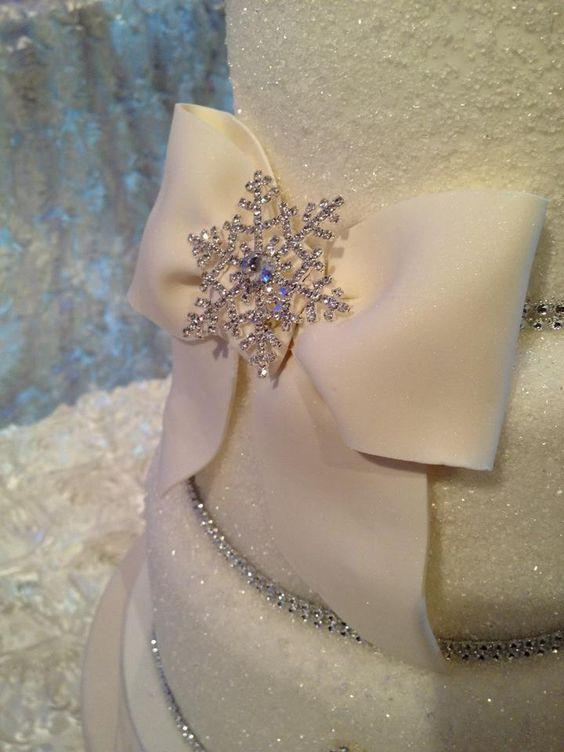 LOVE LOVE LOVE the snowflakes and sparkle