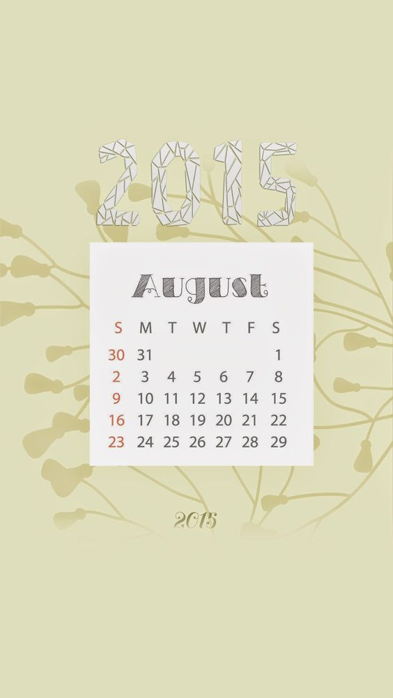 August Wallpaper of 2015 Calendar wallpapers collection for iPhones - @mobile9