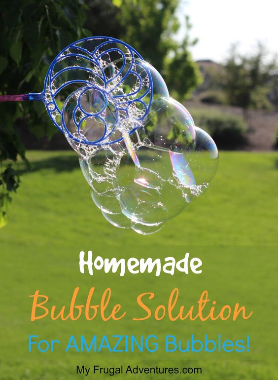 how to make bubbles at home