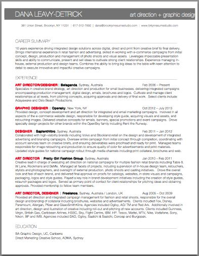Apparel Design Cover Letter Brooklyn Resume Studio Resume - apparel designer resume