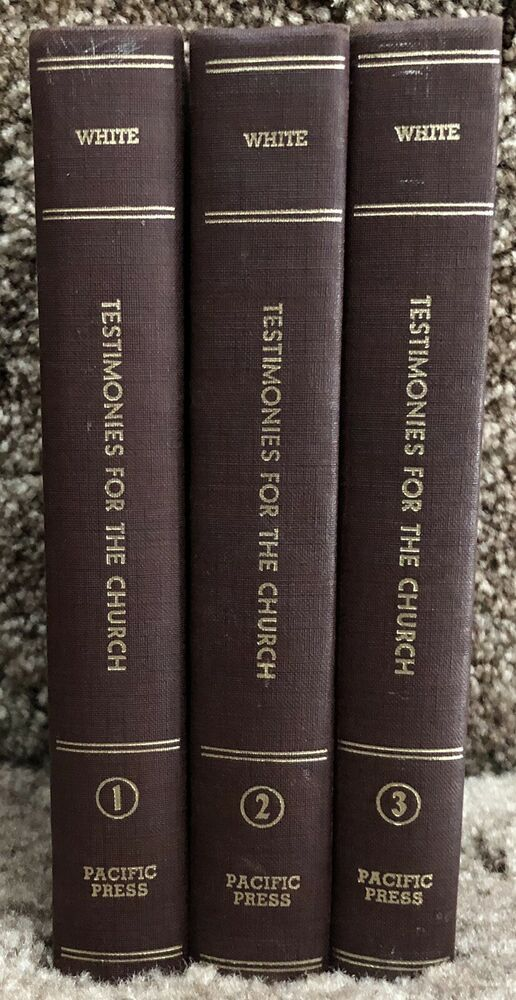 Testimonies For The Church By Ellen G White 1948 Maroon Volumes 1