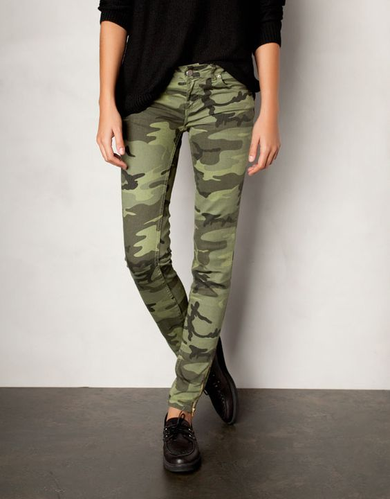 pantalon slim camouflage must have femme france look book pinterest bermudas. Black Bedroom Furniture Sets. Home Design Ideas