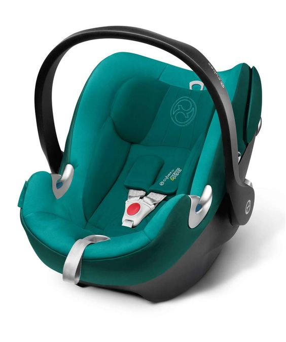 مقعد سيارة Cybex Aton Q أزرق مائل للخضرة ماماز وباباز البحرين Baby Car Seats Car Seats Mamas And Papas