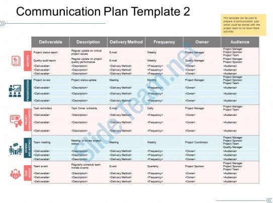 Communication Plan Template 2 Ppt Background Slide01