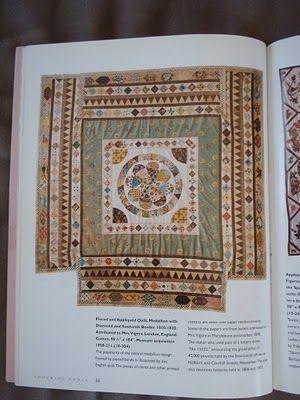 empty field: wip thursday - mrs vigors' english medallion    the original Museum Medallion quilt