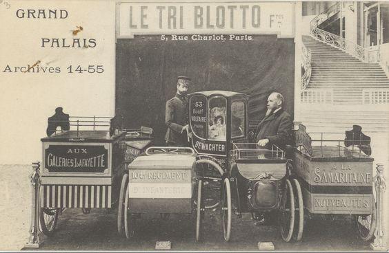 Lettre des frères Blotto, constructeurs de véhicules à Paris, à Maurice Couyba, ministre du Travail. Paris, 5 rue Charlot, 7 août 1914. Carte postale