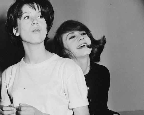 Catherine Deneuve and Françoise Dorléac photographed around the time of shooting Les Portes Qlaquent, 1960.