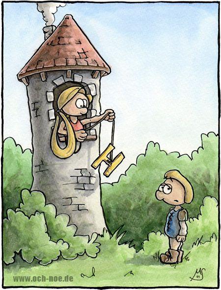 Rapunzel, Rapunzel lass dein H herunter... deutliche Aussprache ist wichtig Leute :D www.och-noe.de - Cartoons