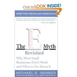 """Very good book for a smaller company,"" writes John Rosenthal. ""Actually this is  the best book for any startup and then for anyone under 40 to 50 employees.""    Source: http://www.amazon.com/The-E-Myth-Revisited-Small-Businesses/dp/0887307280/ref=sr_1_1?s=books=UTF8=1330870515=1-1"