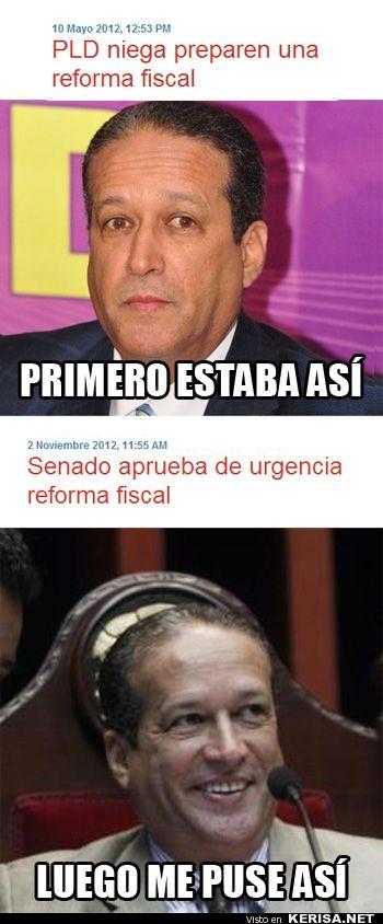 Reinaldo Pared y la Reforma Fiscal