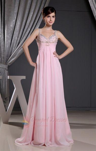 Pink Empire Waist Dress. | Fashion | Pinterest | Chiffon evening ...