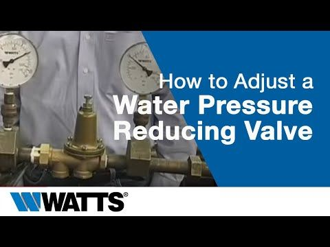 How To Adjust A Water Pressure Reducing Valve Youtube Pressure Valve Sump Pump