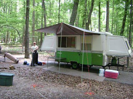 how to make a camper awning from a tarp