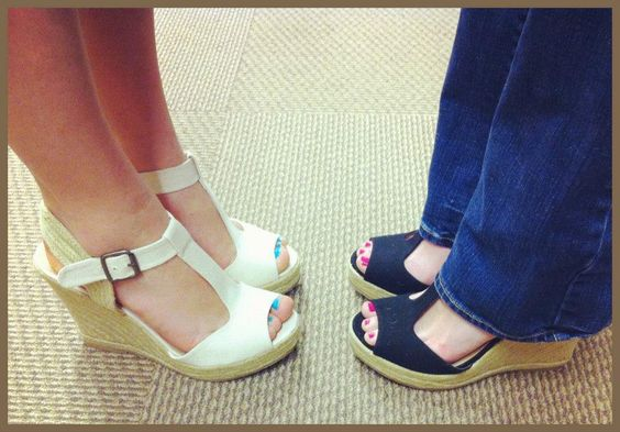 SM Wade wedges: espadrille with classic t-strap from DSW. I like those Navy colored ones.