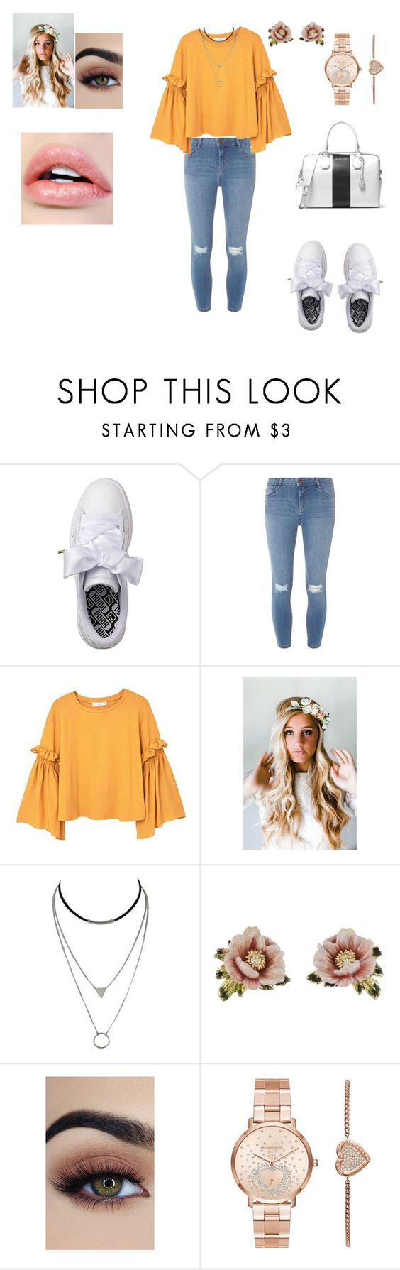 Shopping look by lolareuter99 ❤ liked on Polyvore featuring Puma, Dorothy Perkins,