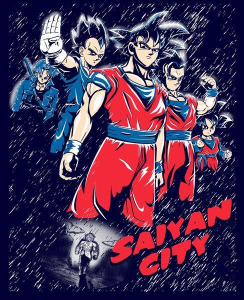 Saiyan City Art Print