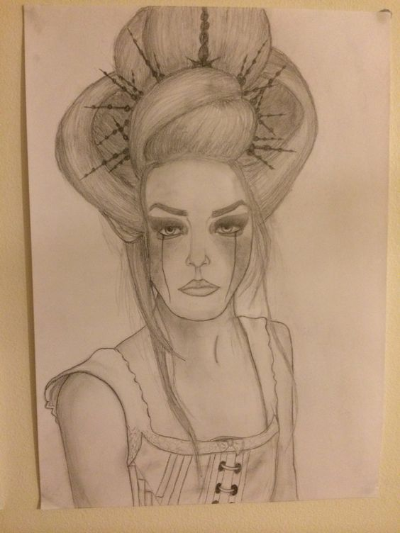 Girl pencil drawing- by Ashleigh Hunter