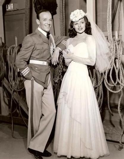 Vintage 40's Wedding Dress Time-Rita Hayworth &(Fred Astaire)