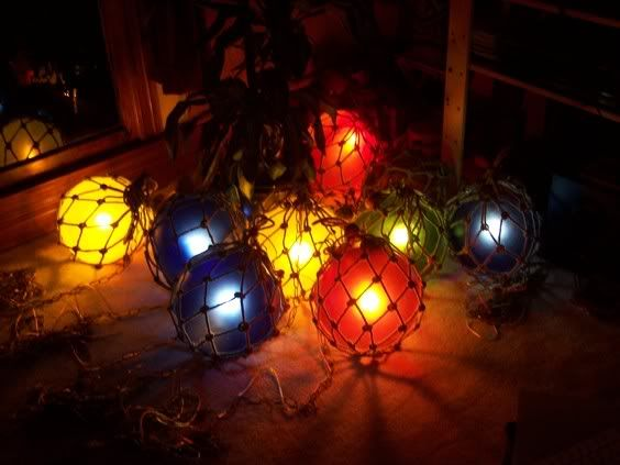 "12"" diameter glass fishing float lights for sale -- tiki central, Reel Combo"