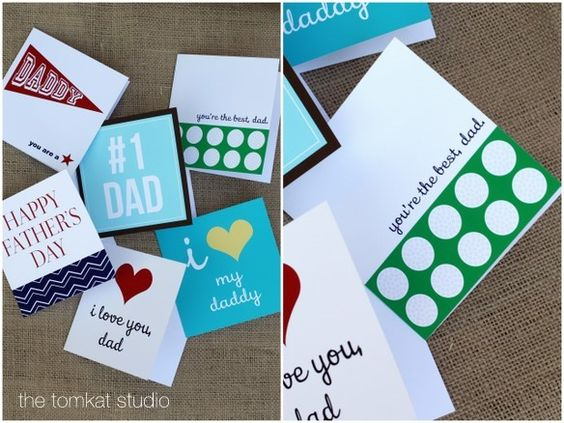 SUPER cute (and free!!!) downloadable Father's Day cards from The TomKat Studio! They are just so cute (and free!)!