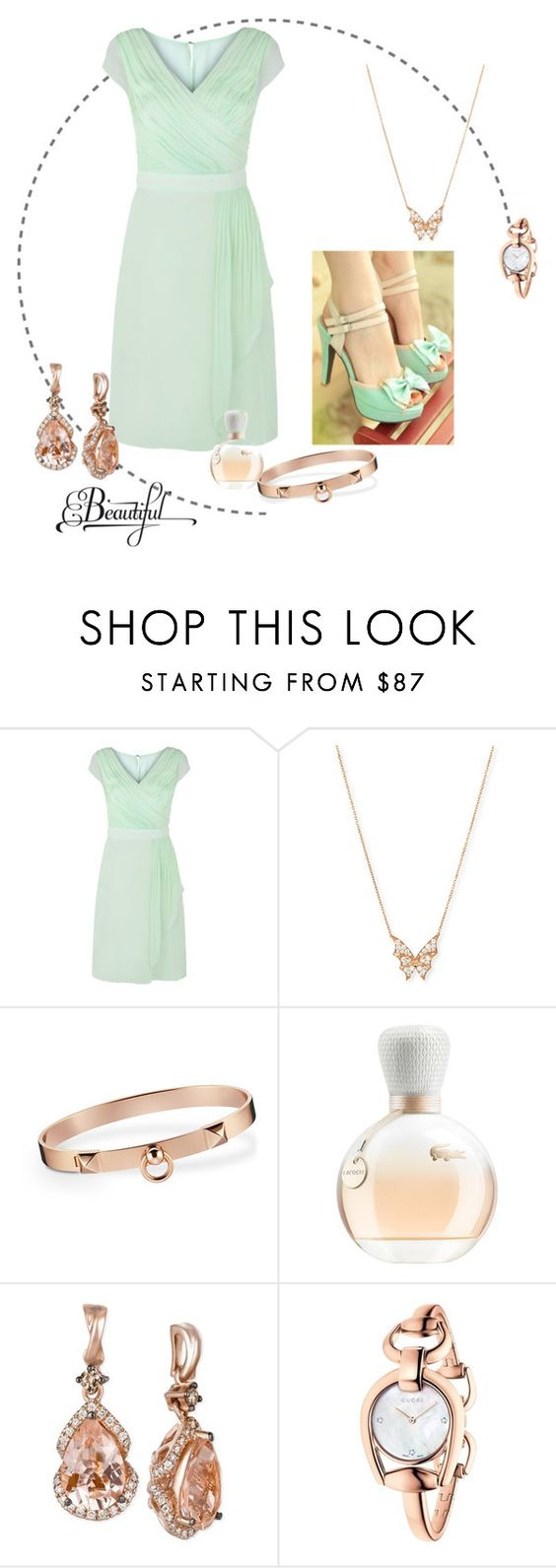 """Take"" by sasane ❤ liked on Polyvore featuring Kaliko, Stephen Webster, Lacoste, LE VIAN and Gucci"