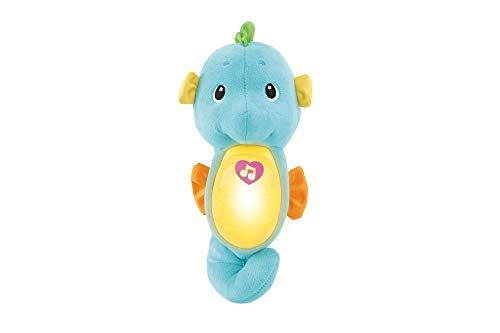 Fisher Price Soothe Glow Seahorse Blue Toy Baby Crib Fisher