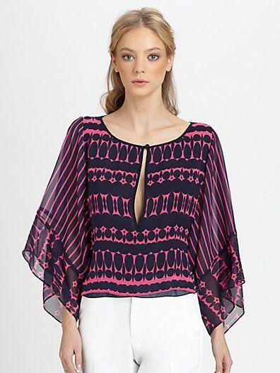 Nanette Lepore - Iconic Silk Top - Saks.com