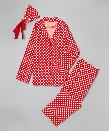 Jessie Steele Red & White Polka Dot Pajama Set - Women | Pajama ...