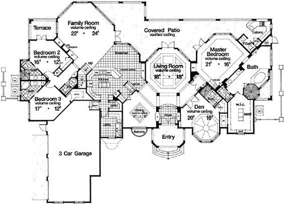 Plan 63186hd grand hexagonal living room hexagons for Hexagon deck plans