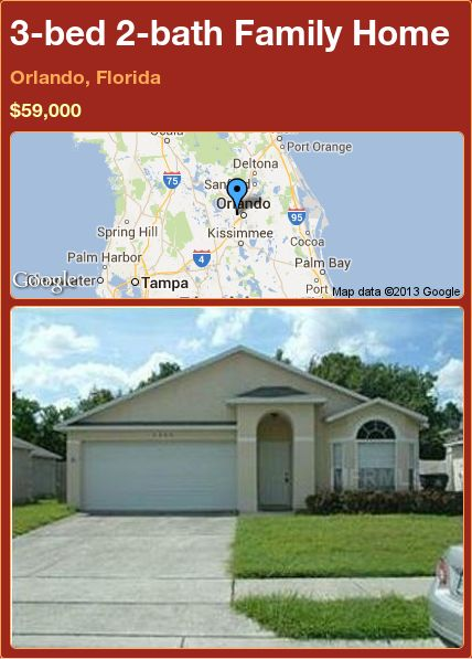 3-bed 2-bath Family Home in Orlando, Florida ►$59,000 #PropertyForSale #RealEstate #Florida http://florida-magic.com/properties/15639-family-home-for-sale-in-orlando-florida-with-3-bedroom-2-bathroom