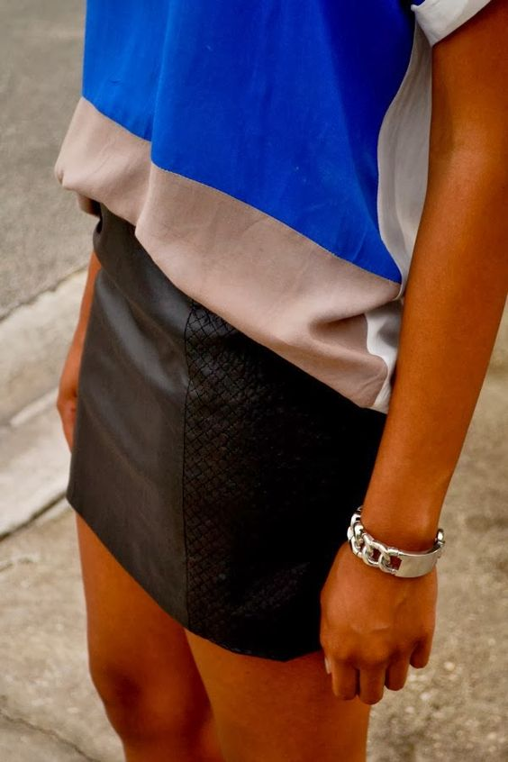 Cha Cha the Fashion Genius | color blocking and leather
