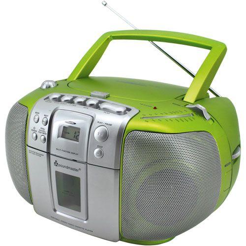 Kinder CD-Player Soundmaster tragbar mit Kassettendeck - Kompaktes 3-in-1-Gerät ♥ sorgfältig ausgewählt ♥ Jetzt online bestellen!