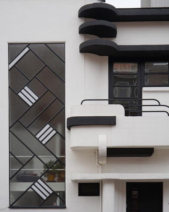 "Adam Štěch on Instagram: ""Detail of a streamlined house, designed by Louis Tenaerts in 1930, Brussels. #architecturehunting #thespacesilike #modernistdesign…"""