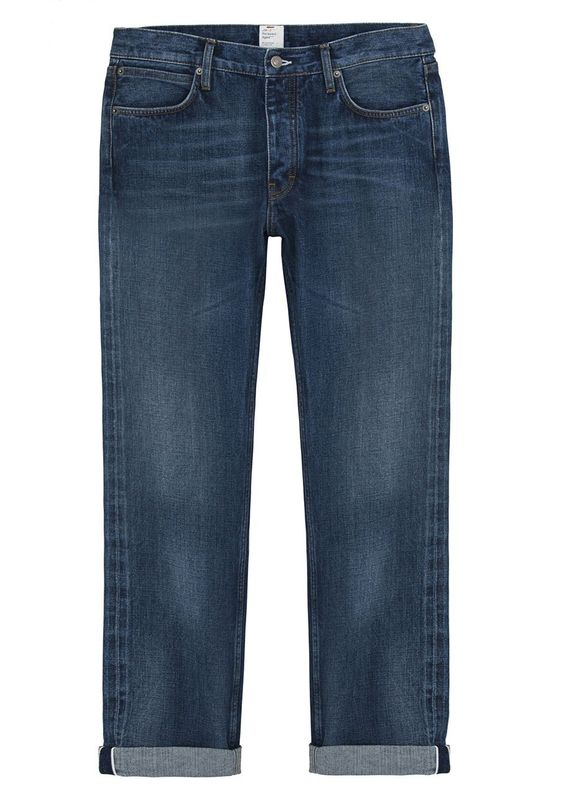JEANS I am fully behind a pair of slightly distressed cuffed jeans right now, and Jean Machine does the job perfectly. J-M 3 Relaxed Jean. $253, thejeanmachine.co.uk. Vanity Fair's Fashion Market Director Michael Carl shares his picks. Follow Michael on Twitter at @carlscrush.