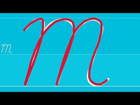How to write uppercase and lowercase letters in cursive
