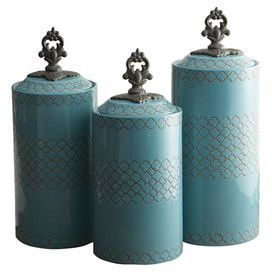 3-Piece Rhone Canister Set in Blue