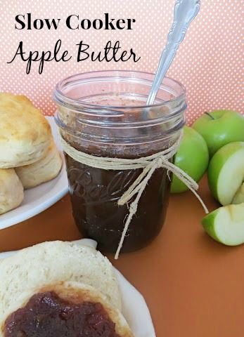 Slow Cooker Apple Butter - so easy and delicious! #recipe #apple # ...