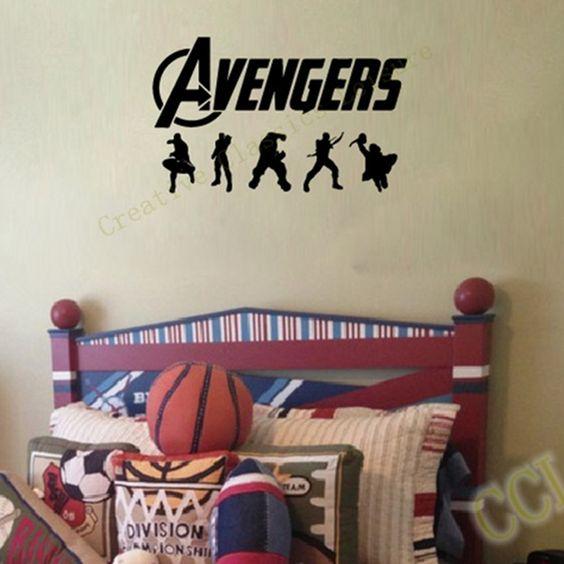 The Avengers Wall Decal Sticker - Vinyl Super hero Wall Decal Sticker For Kids Boy Room Decor