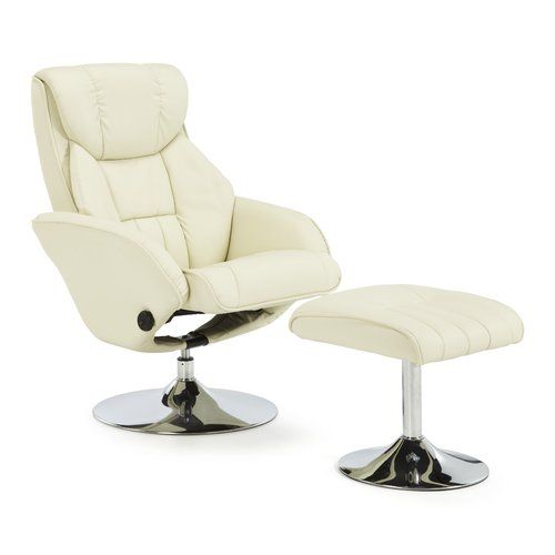 Mercury Row Nairne Recliner And Footstool Contemporary Recliner Chairs Small Recliner Chairs Leather Recliner Chair