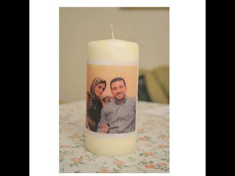 Diy Printed Candles الطباعة على الشمع بطريقة رائعة وسهلة جدا Youtube Pillar Candles Instagram Pattern