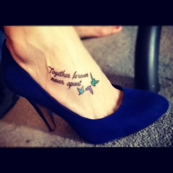 Together forever sister tattoos and sisters on pinterest for Together forever tattoos