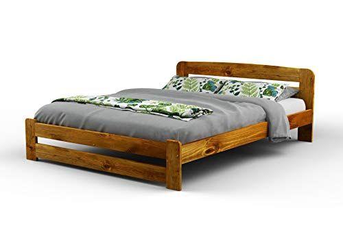 New Double Solid Wooden Pine Bedframef1 With Slats 4ft6in Oak