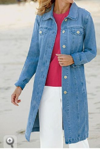 Womens Long Denim Coat - JacketIn