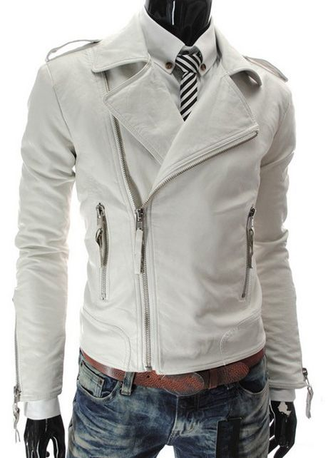 White Faux Leather Jackets with Turndown Collar http://www.martofchina.com/white-faux-leather-jackets-with-turndown-collar-g105453.html?lkid=164- For more amazing finds and inspiration visit us at http://www.brides-book.com