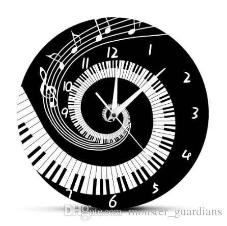 Jazz Wall Clock Musicial Instrument Vinyl Record Wall Clock Music Lover Gift