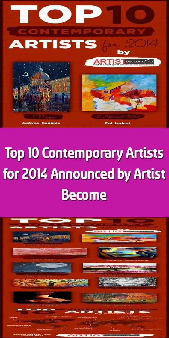Top 10 Contemporary Artists For 2014 Announced By Artist Become Curious About Who Ranks The H In 2020 Contemporary Artists Contemporary Art Artists List Of Artists