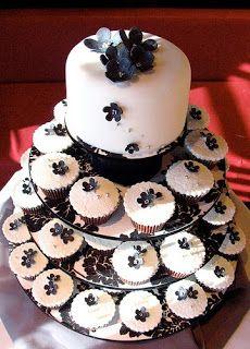 cupcake tower, gumpaste, fondant