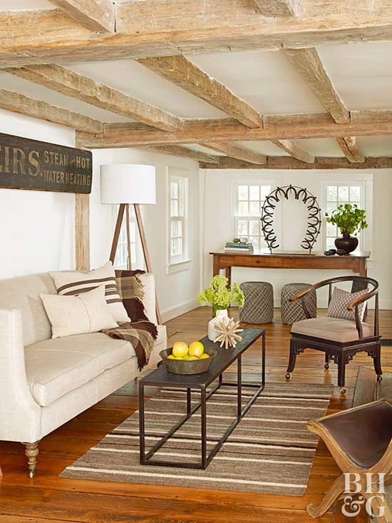 Don T Forget Your Living Room S Fifth Wall The Ceiling Beams